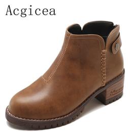 Canada 2018 nouvelle mode européenne cheville bottes femmes automne mode avec fermeture à glissière chaussures femme robe formelle talons bottes pour filles fraîches supplier european style girls dresses Offre