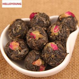 Wholesale China Old - C-PE015 Rose herbal tea 500g Chinese handmade puer tea raw Pu er old trees pu'er cha mini tuo china china green food healthy