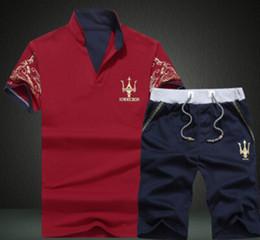 Canada Mens survêtements de sport 2PCS ensembles de vêtements v-cou tshirts shorts costumes tenues décontractées cheap mens sports wear clothing Offre