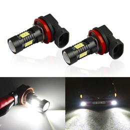 cree rojo bombillas led Rebajas 2pcs H8 H11 LED luces del coche HB3 9005 HB4 9006 1200LM bombillas LED 6000K luz corriente diurna DRL 12V luz de niebla del conductor de la lámpara para el coche