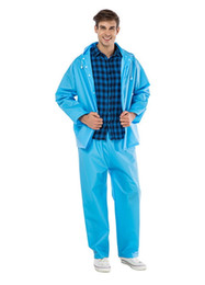Wholesale jacket hood for women - Reusable Women Men Waterproof Raincoat Rain Pants Rain Suit Jacket Pants Set With Hood For Hiking Drifting JJ-SYYY33