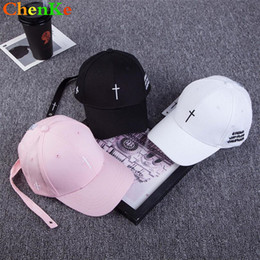 ChenKe Fashion Women Men Cross Belt Baseball Cap Embroidery Letter Snapback  Hat Casquette Casual Cotton Cross Peaked Cap Bone e116efede8dd