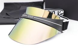 Верхние шляпы для онлайн-Роскошные ja Cap солнцезащитные очки Женщины Hat для унисекс красочные Cap открытый УФ-защиты объектива углеродного волокна ноги летний стиль высокое качество Wiht Case
