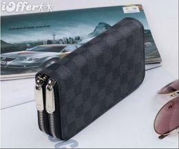 nuevo estilo largo Supr mujer y hombre PU cuero monedero billetera múltiple Damier Graphite Soft Bifold tarjeta de crédito titulares cartera desde fabricantes