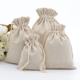 оптовые украшения супергероев Скидка 50шт 100% хлопок Drawstring сумки Сельский Calico подарочные пакеты для кофе в зернах Jewelry Wedding благосклонности Xmas Sack Accept Настроить