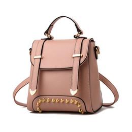 87e96f7f4d8c Female bag new south Korean fashion ladies backpack of fashionable ladies  handbag Rivet trendy knapsack high school bag