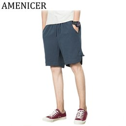 Wholesale Flax S - Men Branded Loose Beach Flax Large Sizes Shorts Man Solid Color Casual Shorts For Boy Summer With Pocket Male Breeches Beachwear