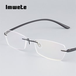 7581e6c62e Imwete Business Glasses Frameless Myopia Glasses Hombres Mujeres TR90 Ultra  Light Eyewear Frames Female Male Classic Eyeglasses Frame marcos ultra  ligeros ...