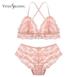 9bc782a45e sexy transparent bras panties 2019 - VENUS S BLESSING Ultrathin embroidery bras  lace bra set underwear women