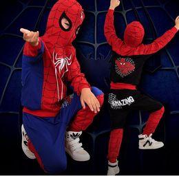 Nuevos niños chándales de Halloween Ropa para niños Conjuntos 2 unids / lote primavera otoño niños de dibujos animados traje deportivo Spiderman ropa casual desde fabricantes
