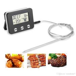 Temperatura electrónica de la carne Termómetro electrónico de la comida LCD Sonda digital Termómetro de la carne BARBACOA Medidor de temperatura Cocina Herramientas de cocina desde fabricantes