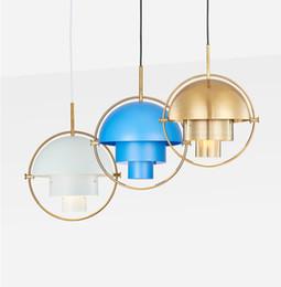 Colgante de metal tonos claros online-2018 Northern Europe Industrial Metal barra de color lámparas E27 Iron Shade colgante moderno colgante de luz envío gratis
