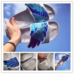 f09d4e7537fc1 Ali d angelo Pantofole Swan Sandalo Marchio di moda Slide Mocassini bianchi  Scuff Pantofole Estate Casual Sandalo da spiaggia All aperto Ali d angelo  ...