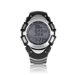 Wholesale Weather Barometers - SUNROAD Men Digital Fishing Watch 50m Waterproof Sport Weather Forecast Barometer Thermometer Reminder watch