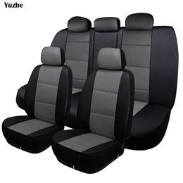 Cubierta de asiento de coche universal de cuero Yuzhe para Corolla RAV4 Highlander PRADO Yaris accesorios de automóviles cubierta de asiento desde fabricantes