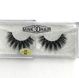 Wholesale Making Plastics - New arrival Real Siberian 3D Mink Strip False Eyelash Long Individual Eyelashes Mink Lashes free shipping