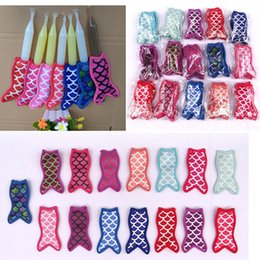 Wholesale Tool Cone - New Mermaid printing popsicle holders Ice Popsicle sleeves freezer Pop holders for kids Summer Ice Cream Tools