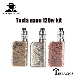 Wholesale Box Evic - 100% Original Tesla Nano 120W TC Starter Kit with ARROW H8 Tank Electronic Cigarettes Box Mod VS Joyetech EVIC PRIMO 200W