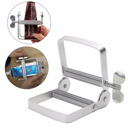 Wholesale Toothpaste Tools - Aluminum Toothpaste Dispenser Tool Tube Squeezer Easy Bathroom Home