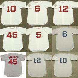 Wholesale Orange Bills - Men youth 6 BILL BUCKNER 10 RICH GEDMAN 12 ELLIS BURKS 45 PEDRO MARTINEZ Baseball Jersey