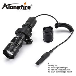 Wholesale outdoor remote switch - AloneFire TK104 CREE L2 LED Tactical Flashlight 5mode Outdoor Camping Torch lamp +tactical mount+remote switch for Hnting 1x 18650