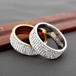 Рождественские подарки подросткам онлайн-5 строк линии прозрачный кристалл обручальные кольца для женщин мода горный хрусталь из нержавеющей стали женский подросток ювелирные изделия 10 шт. Рождественский подарок