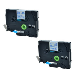 Wholesale Wholesale Label Printers - 2 Pack Blue on White Laminated Label Tapes Compatible for Brother TZ-233 TZe-233 TZe233 P-touch Printers 12mm 1 2Inch x 8m 26.2Feet