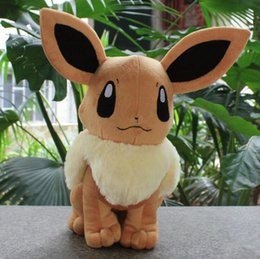 Wholesale Pokemon Christmas Plush - 26cm Plush Animals Toys Poke Soft Stuffed Eevee Baby Toys Birthday Christmas Gifts Eevee plush toy soft doll KKA4120