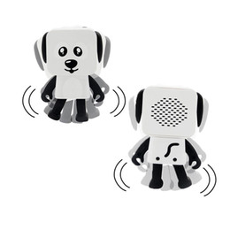 Wholesale bluetooth speakers for kids - 2018 Mini Super Cut Smart Dancing Robot Dog Bluetooth speaker Multi portable Bluetooth Speakers New years Christmas Gift For Child Kids 50pc