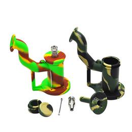 Силиконовые трубы FDA курительная трубка Платиновая рука ложка Coloredl силиконовое масло Dab инструмент портативный силиконовые водопроводные трубы высокого качества от