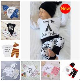 3443eb46f6 2019 panda bambino tuta Abbigliamento per bambini Set Baby Lettera Panda  Stripe Tute Stampa Pagliaccetti Pantaloni