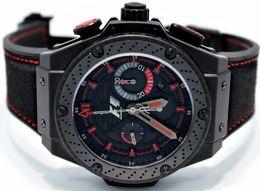 Wholesale 48mm Quartz - AAA Top Quality Luxury brand New 48mm King Power Casual Watch Quartz Movement Watches Black Leahter Dive Men's Wristwatches