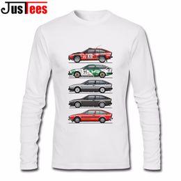 Wholesale Alfa Romeo White - Stack of Alfa Romeo Alfetta T-shirt GT and GTV Men Crew Neck Hipster Hi-Street Shirts Daily Wear Shirts Camisetas