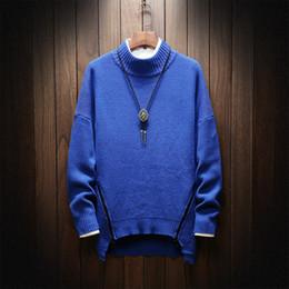 1f6a42287f57 2018 neue Mode Herbst Winter Kintting Pullover Herren Pullover Casual  Solide Zipper Designs Rollkragenpullover Männer Plus Größe M-5XL preiswerte  herren ...