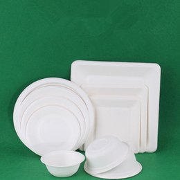 Дети дети Белый DIY неокрашенный одноразовые круглые квадратные бумажные тарелки чаши развивающие игрушки день рождения украшения от Поставщики список кистей