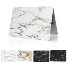 Estuches para macbook 13 pulgadas online-Cubierta mate de goma de alta calidad de la cubierta de la caja de goma de la textura de mármol para Macbook 11/12/13/15 pulgada
