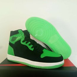 xbox verde Rebajas Edición especial 1 para E3 2018 Sneakers XBOX 1s suela resplandeciente en la oscuridad Zapatillas de baloncesto para hombres Mujeres Black Green Designer Trainer