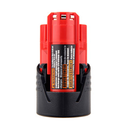 Wholesale 12v li ion batteries - battery replacement High Quality 2PCS 12V 2000mAh Li-Ion Replacement Power Tool Battery for Milwaukee M12 C12 BX C12 B 48-11-2402 48-11-2401