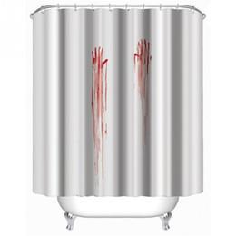 tissu religieux Promotion Sangulaire empreinte de main rideau de douche élégante famille anneau de rideau de douche salle de bains tirer facile à installer