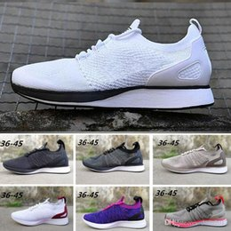 80a513824db7f 2018 Chaussures Mariah Fly Racer 2 Women Mens Running Shoes Black White Red  Zoom Sneakers Designer Trainers Zapatos Air Shoes Size 36-45