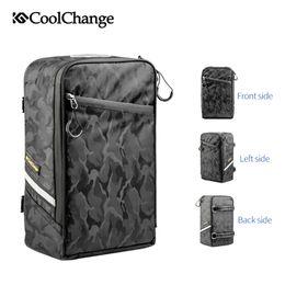 Велосипедные багажные сумки онлайн-CoolChange Bicycle Bag Portable Waterproof Cycling Rear Rack Bag Tail Seat Trunk Bags Pannier MTB Backpack Bike Accessories