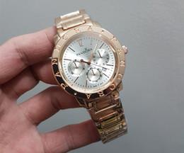 Wholesale Japan Movement Wrist Watch Steel - 2018 Famous brand M wrist watch Japan Gold Movement M Classic Metal Watch+ Gift available men women gold stainless steel fashion watch