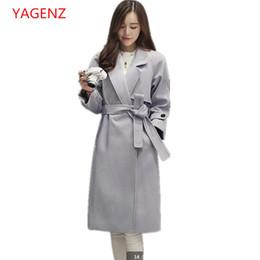 10df7b0c977a Women clothes 2018 NEW Wool coat Korean winter coats for womens Plus size  Imitation of cashmere Female black long coats K3736