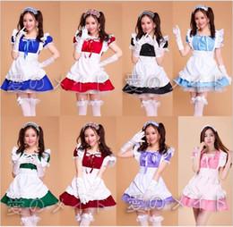 Cosplay più uniformi di formato online-Costumi di Halloween per le donne Sexy plus size costume cameriera dolce gotico Lolita Dress Anime Cosplay Sissy Maid Uniforme