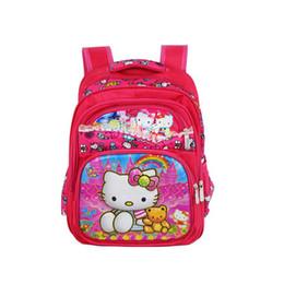 d6df14eda Chinese New Girls Cartoon Hello Kitty Schoolbag Kids Princess Hello Kitty  Waterproof Printing School Bags Dropshipping