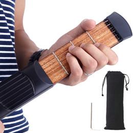 guitarras de prática Desconto 2017 frete grátis portátil de bolso guitarra 6 Fret Modelo Prática madeira 6 Cordas instrutor guitarra Ferramenta Gadget para Iniciantes