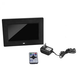 Wholesale Video Card Pictures - 800 * 480RGB 16:9 7 Inch Slim Digital Electronic Picture Photo Video Music Playing Frame porta retrato digital w Remote Control