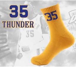 Wholesale Gold Table Numbers - Boys Sock Basketball Soccer Hiking Ski Athletic Outdoor Sports Basketball Numbers Socks for Kobe James 9 Styles Compression Socks G500S