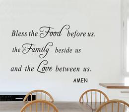 Bénissez la nourriture avant nous Wall Decal citations vinyle lettres et mots Wall Art religieux autocollant pour salon cuisine décoration ? partir de fabricateur