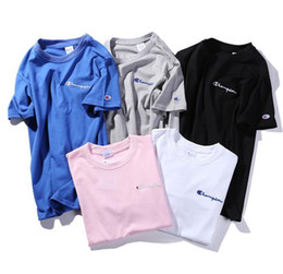 Wholesale Embroidered T Shirt Woman - Small C logo embroidered T-shirt kanye west a variety of colors and men and women T-shirt High quality cotton printing short sleeves